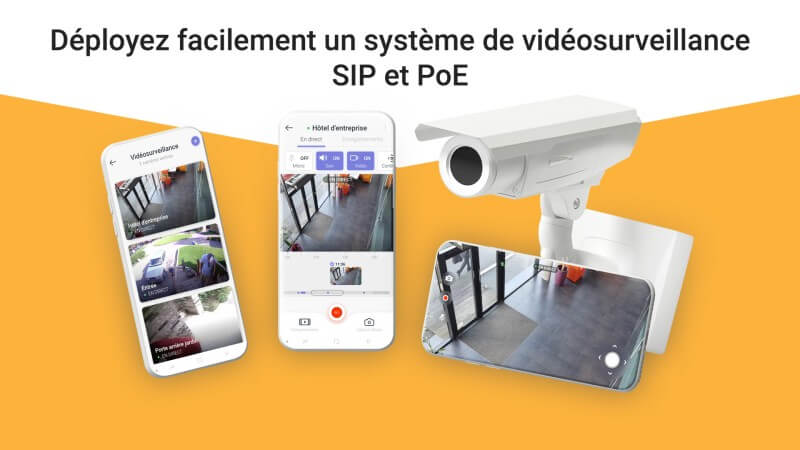 Vidéosurveillance SIP et PoE