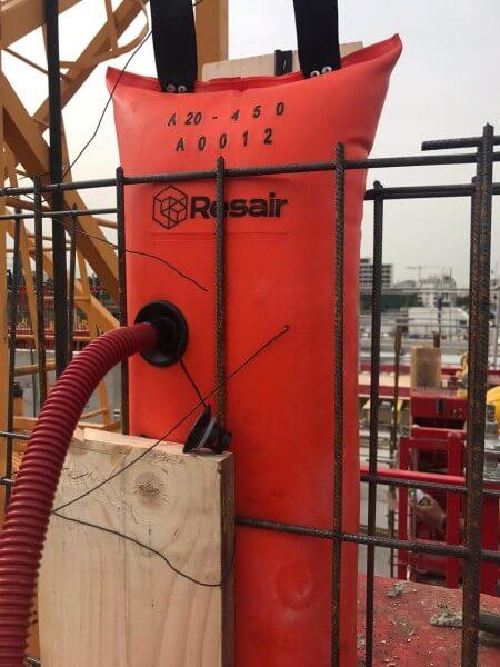 3 Resair A20-450 en oeuvre sur un chantier français