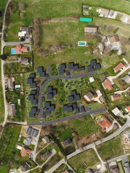 Plan masse vue drone