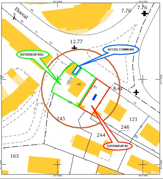 Plan cadastral projet FLOREAL