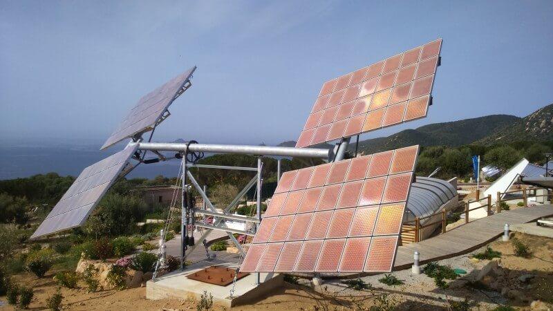 Tracker biaxe Université de Corse  modules HCPV