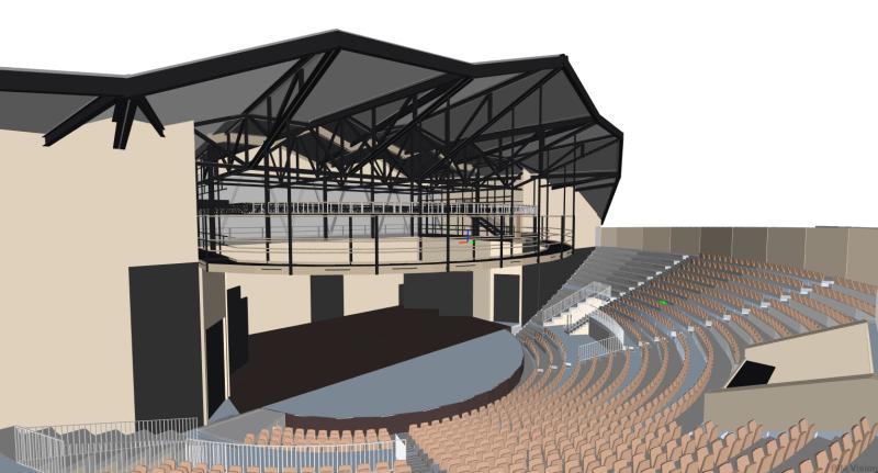 Salle de spectacle à Béziers Vue 3D