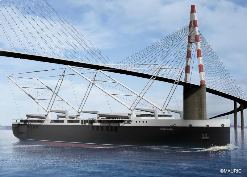 Un voilier de charges capable de desservir les ports secondaires et donc de réduire les pré/post acheminement des marchandises
