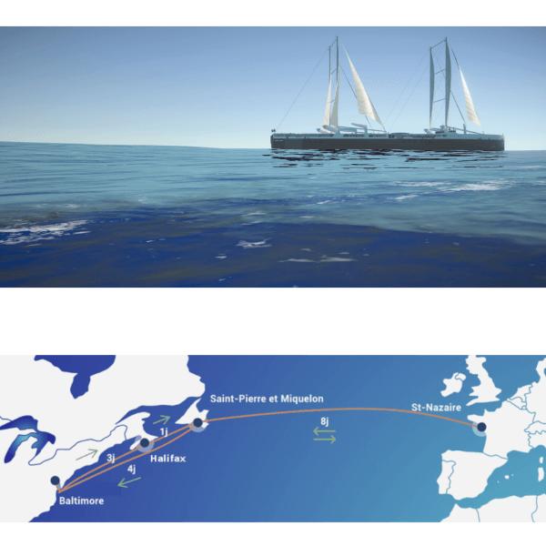 Une ligne pilote transatlantique prévue pour 2024 et définie avec nos chargeurs partenaires entre St Nazaire, St Pierre et Miquelon, Baltimore et Halifax
