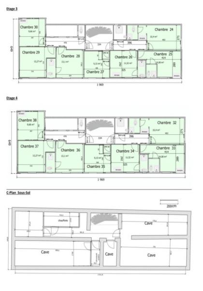 Plans Sous Sol R+3 et R+4