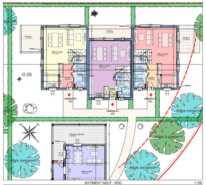 Plan bâtiment neuf - RDC