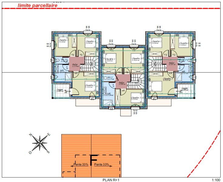 Plans bâtiment neuf - R+1
