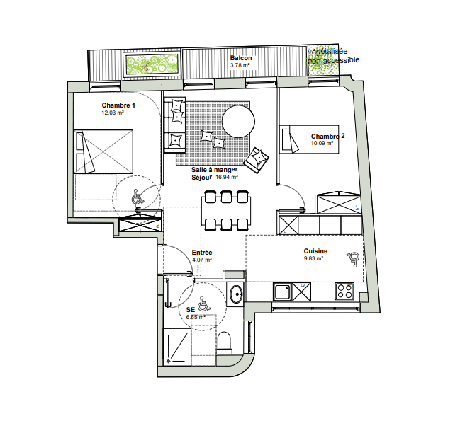 Exemple plan T3