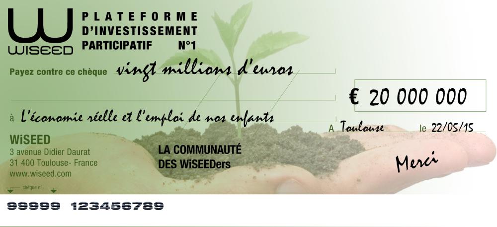Grâce à vous, WiSEED passe la barre des 20 millions d'euros de fonds levés !