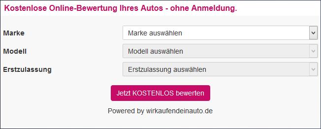 Kostenfreie Fahrzeugbewertung Deine Autoreparatur De
