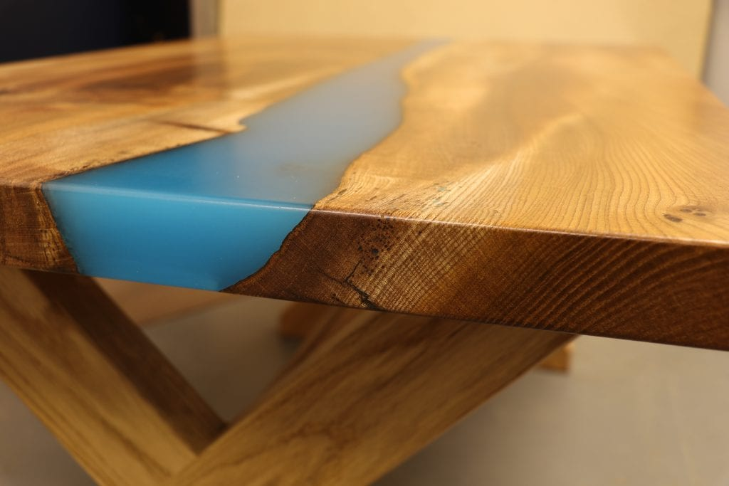 elm and resin table