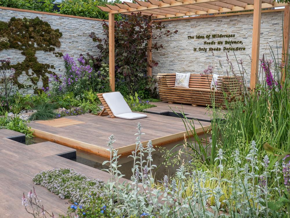 WL West & Sons Ltd Cherry Blossom Garden Oak Bench