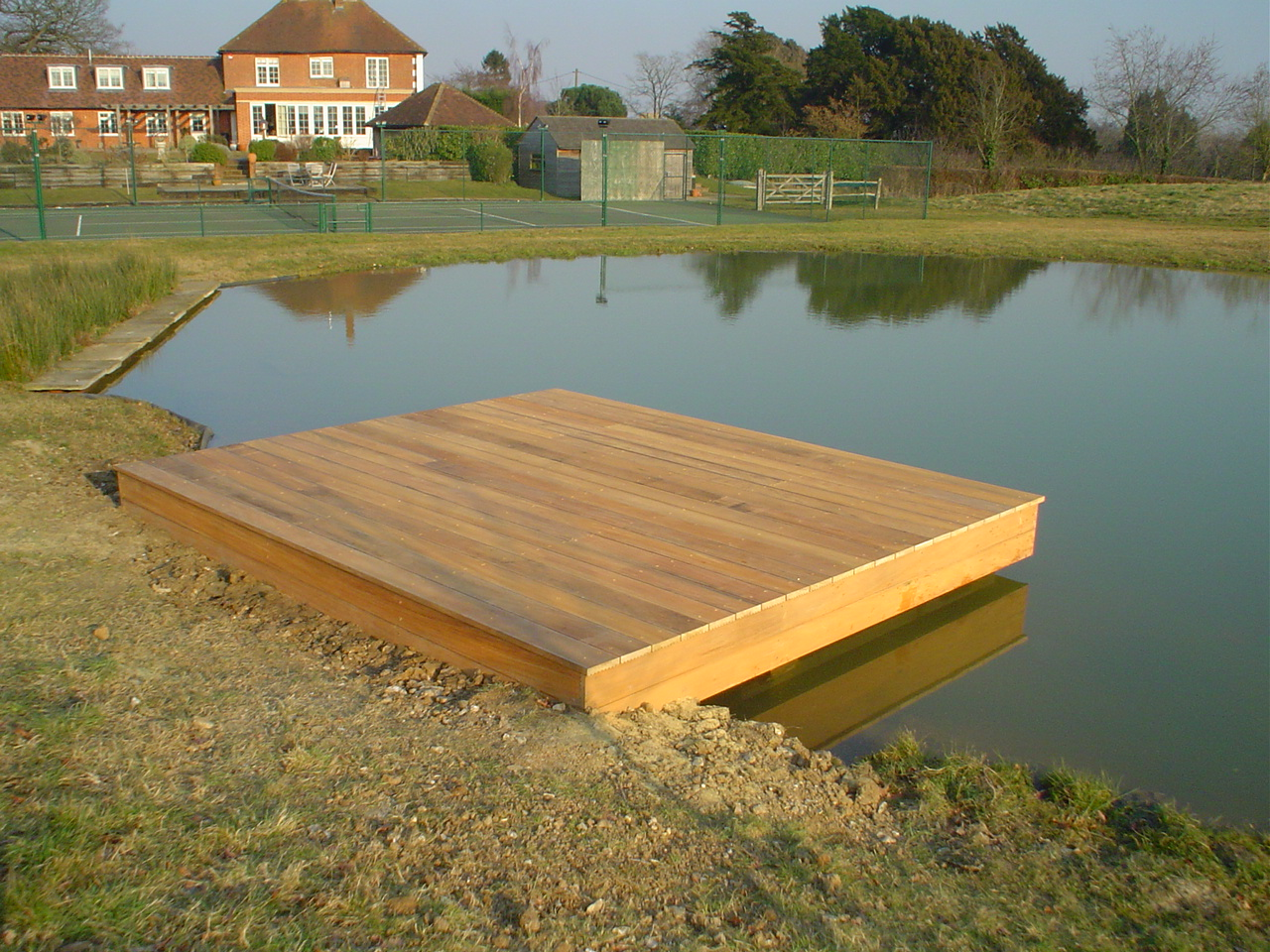WL West & Sons Ltd Yellow Balau wooden decking
