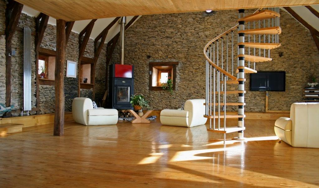 Solid Oak Flooring in a Modern Home