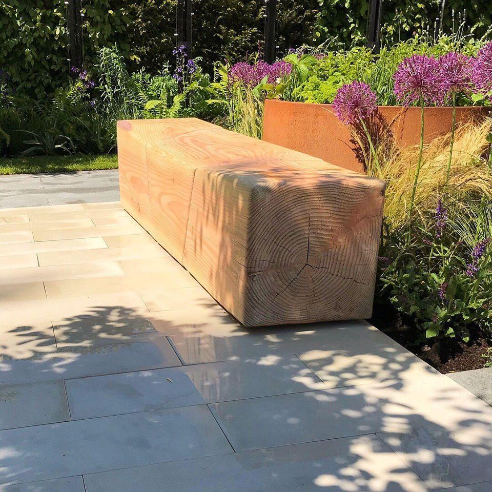 bespoke Douglas Fir garden bench