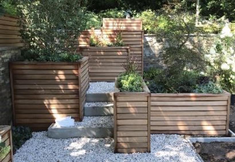 bespoke timber planters