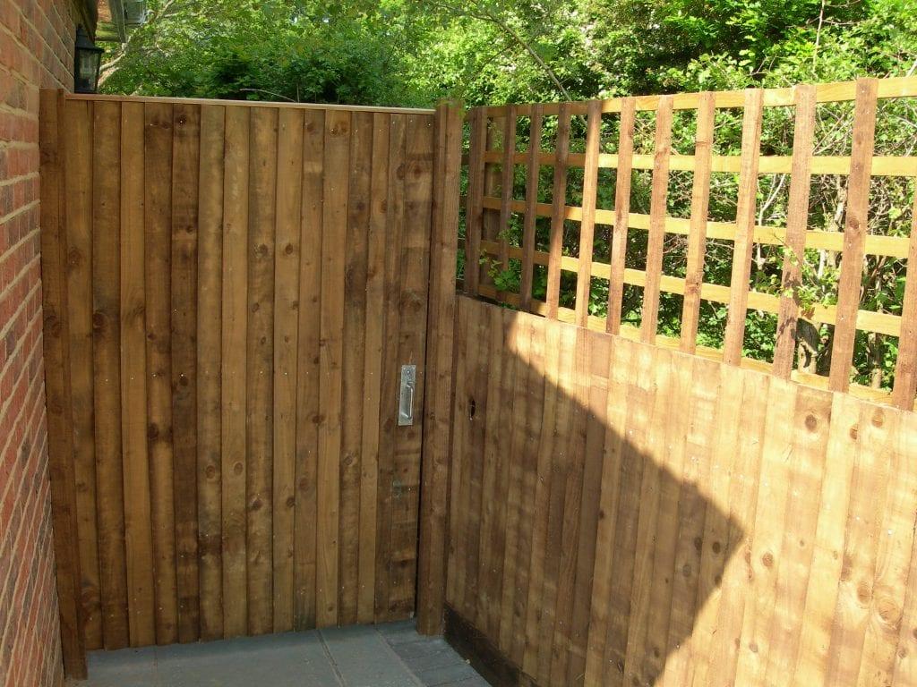Close-boarded pedestrian softwood gate