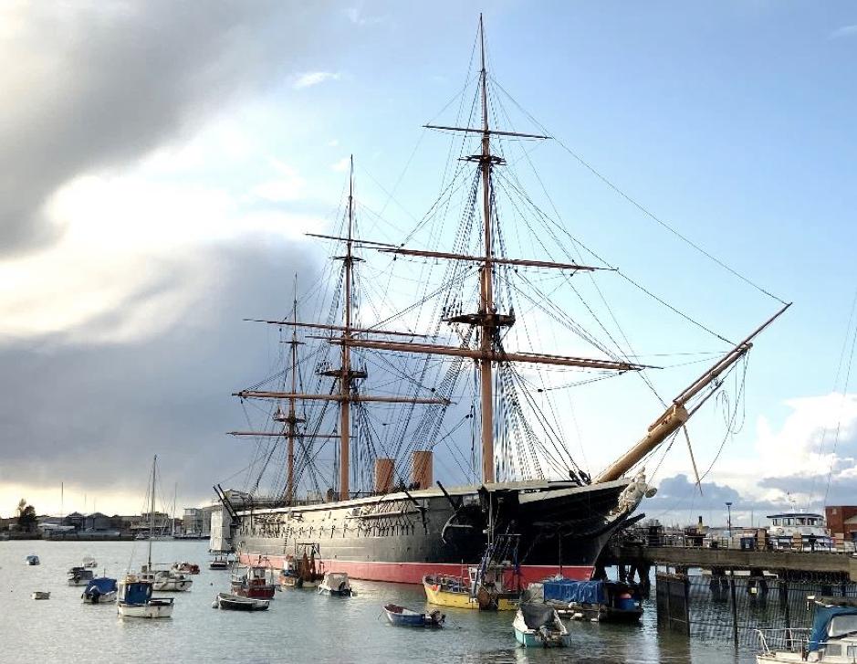 H.M.S Warrior in Portsmouth Historic Dockyard.