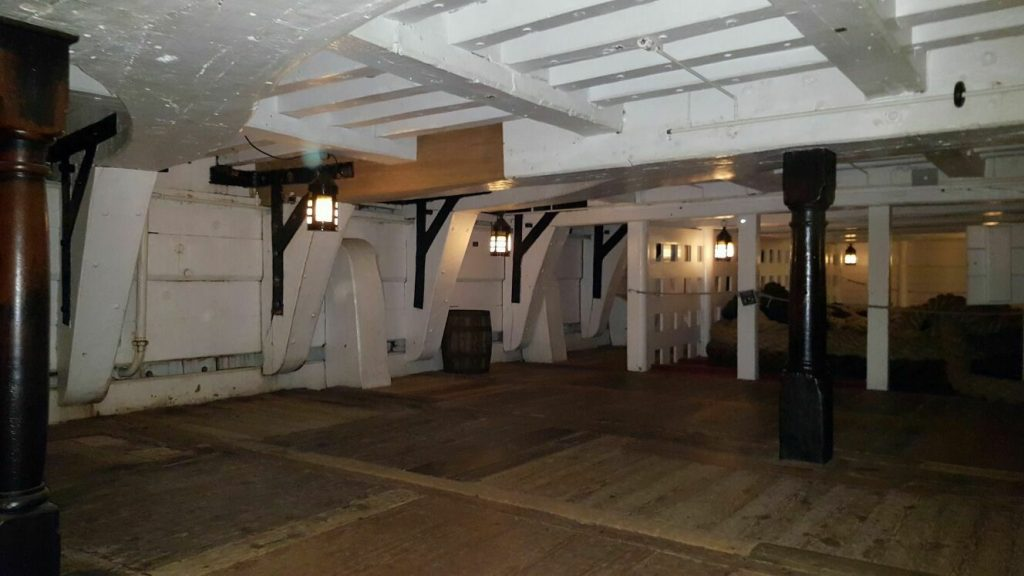The Orlop deck on H.M.S Victory.