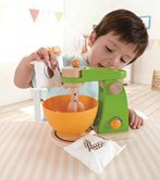 Play kitchen equipment including ovens and mixers