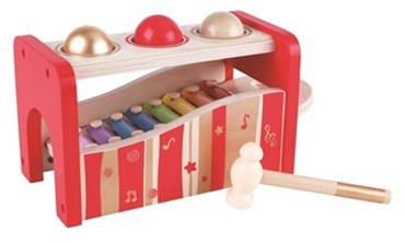 Hape Pound and Tap Xylophone bench