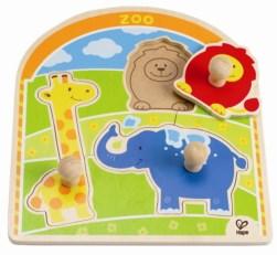 HAPE E1302 At the Zoo Animals Knob Puzzle