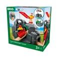 BRIO Crane & Mountain Tunnel 33889 7 Piece Wooden Train Set - Great Value