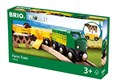 BRIO Farm Train 33404 Wooden Railway Train and Wagons