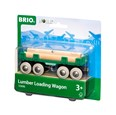 BRIO Lumber Loading Wagon 33696 for Wooden Tain Set