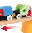 BRIO My First Railway Battery Powered Train Set 33710 25 Piece Wooden Train Set
