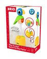 BRIO Play & Learn, Record & Play Parrot 30262 Toddler Interactive Wooden Toy