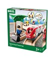 BRIO Rail & Road Travel Set 33209 33 Piece Wooden Train Set
