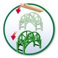 BRIO Stackable Bridge 33885 Wooden Railway Accessory