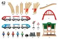 BRIO Travel Switching Set 33512 42 Piece Powered Wooden Train Set - Great Value