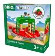 BRIO Turntable & Figure 33476 fir wooden railway