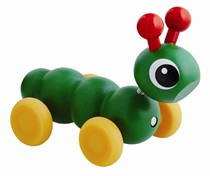 BRIO Mini Caterpillar 30330 Puil Along Toy for Kids | 30330