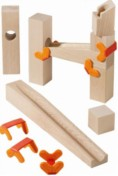 6  Clamps for HABA Marble Run 3495   Blocks not included