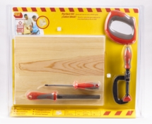 RED TOOLBOX Newspaper Stand and Tools (Set 11) (DAMAGED PACKAGING was £34.95)