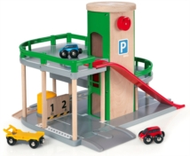 BRIO 33204 Parking Garage 33204 7 Piece Wooden Railway Set - Great Value   33204