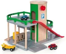 BRIO 33204 Parking Garage 33204 7 Piece Wooden Railway Set - Great Value | 33204