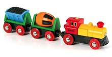 BRIO Battery Operated Action Train 33319 with Headlight for Wooden Train Set | 33319