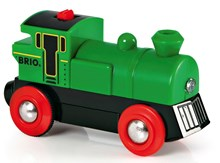 BRIO Battery Powered Green Engine 33595 Train for Wooden Railway | 33595