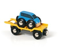 BRIO Car Transporter Blue 33577 for Wooden Train Set
