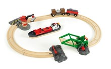 BRIO Cargo Harbour Set 33061 16 Piece Wooden Raiway Set - Great value | 33061