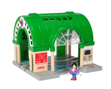 BRIO World Central Train Station 33649 with ATM and sound for Wooden Train Set | BRIO 33649