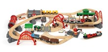 BRIO - Deluxe Railway Set 33052 87 Piece Wooden Railway Set - Great Value | 33052