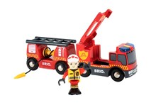 BRIO Emergency Fire Truck 33811 Accessory for Wooden Railway Set | 33811