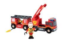 BRIO Emergency Fire Truck 33811 Accessory for Wooden Railway Set | 33811