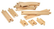 BRIO Beginner Railway Set Expansion Pack 33401 Wooden Raiway Track Extension | 33401