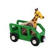 BRIO Safari Wagon and Giraffe 33724 Carriage for Wooden Railway | 33724